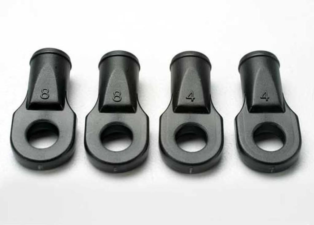 Traxxas Rear Toe Link Rod Ends - Black, 4 Pack