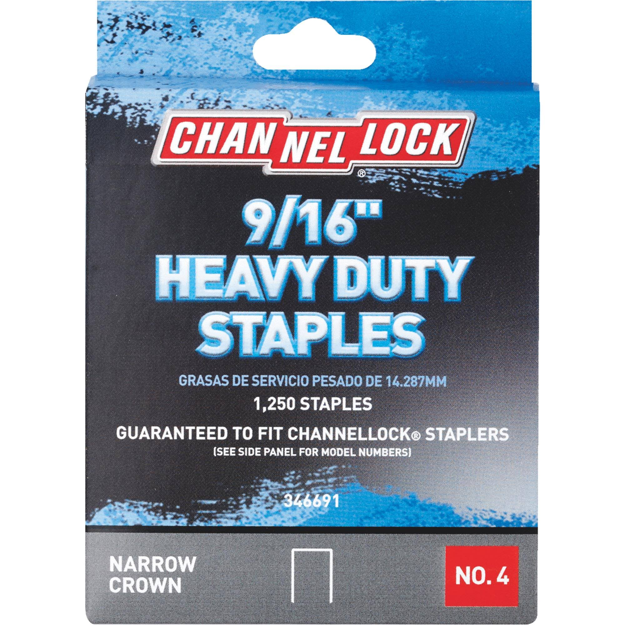 Channellock No. 4 Heavy-Duty Narrow Crown Staple 346691