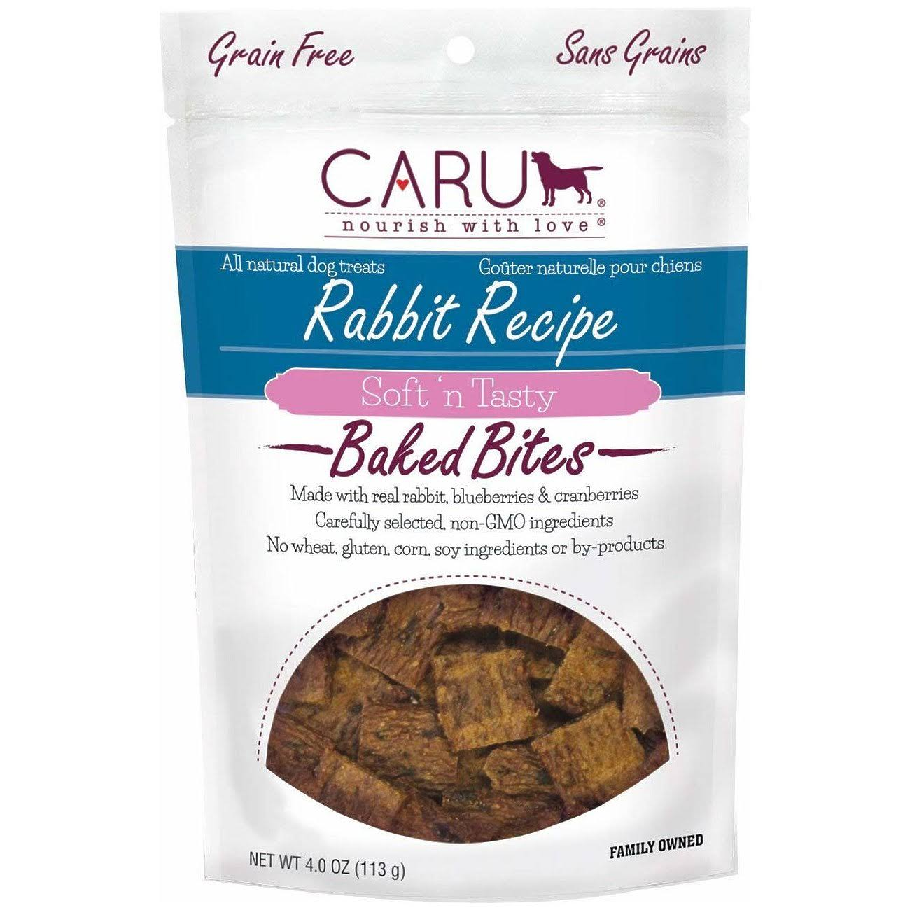 Caru Soft 'n Tasty Rabbit Recipe Baked Bites for Dogs - 3.75oz