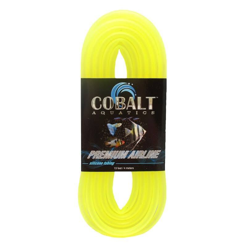 Cobalt Aquatics Premium Silicone Airline Tubing - 13 ft - Yellow
