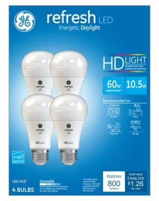 Refresh Daylight HD Light Bulb - 60W, 4pk