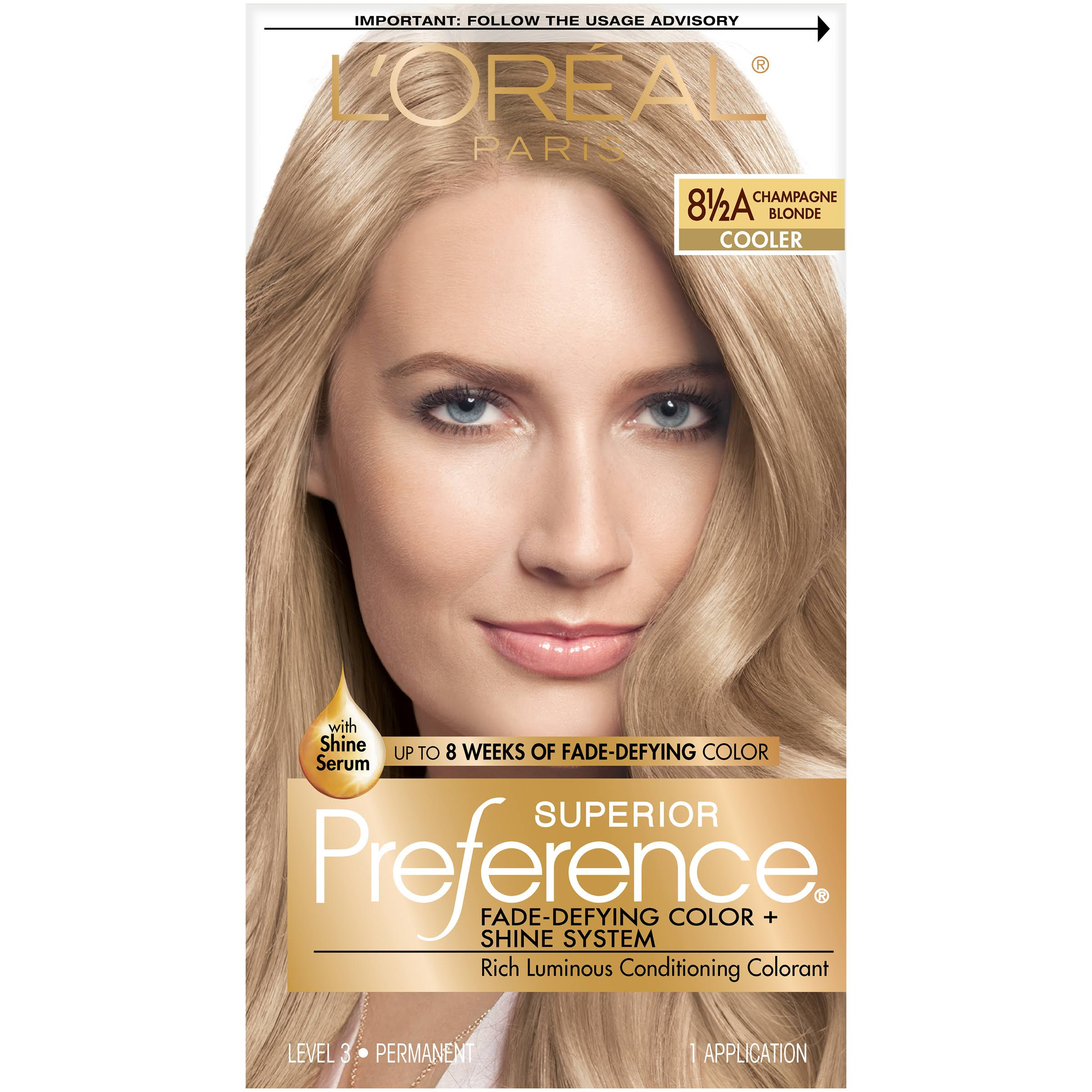 L'Oreal Paris Superior Preference Permanent Hair Color - 8.5A Champagne Blonde