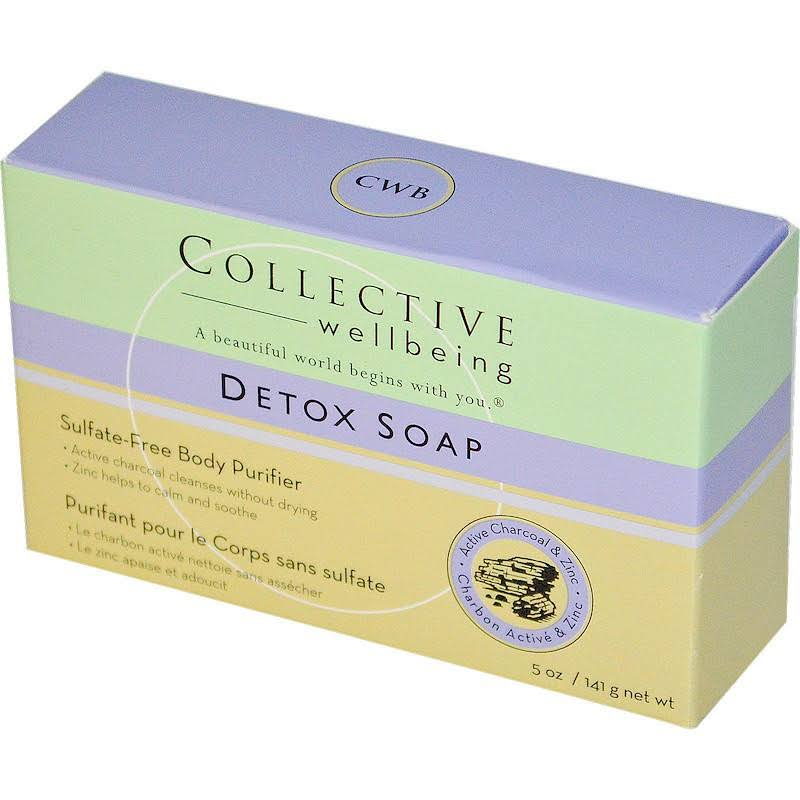 Collective Wellbeing Detox Soap Active Charcoal & Zinc - 5 oz Bar Soap