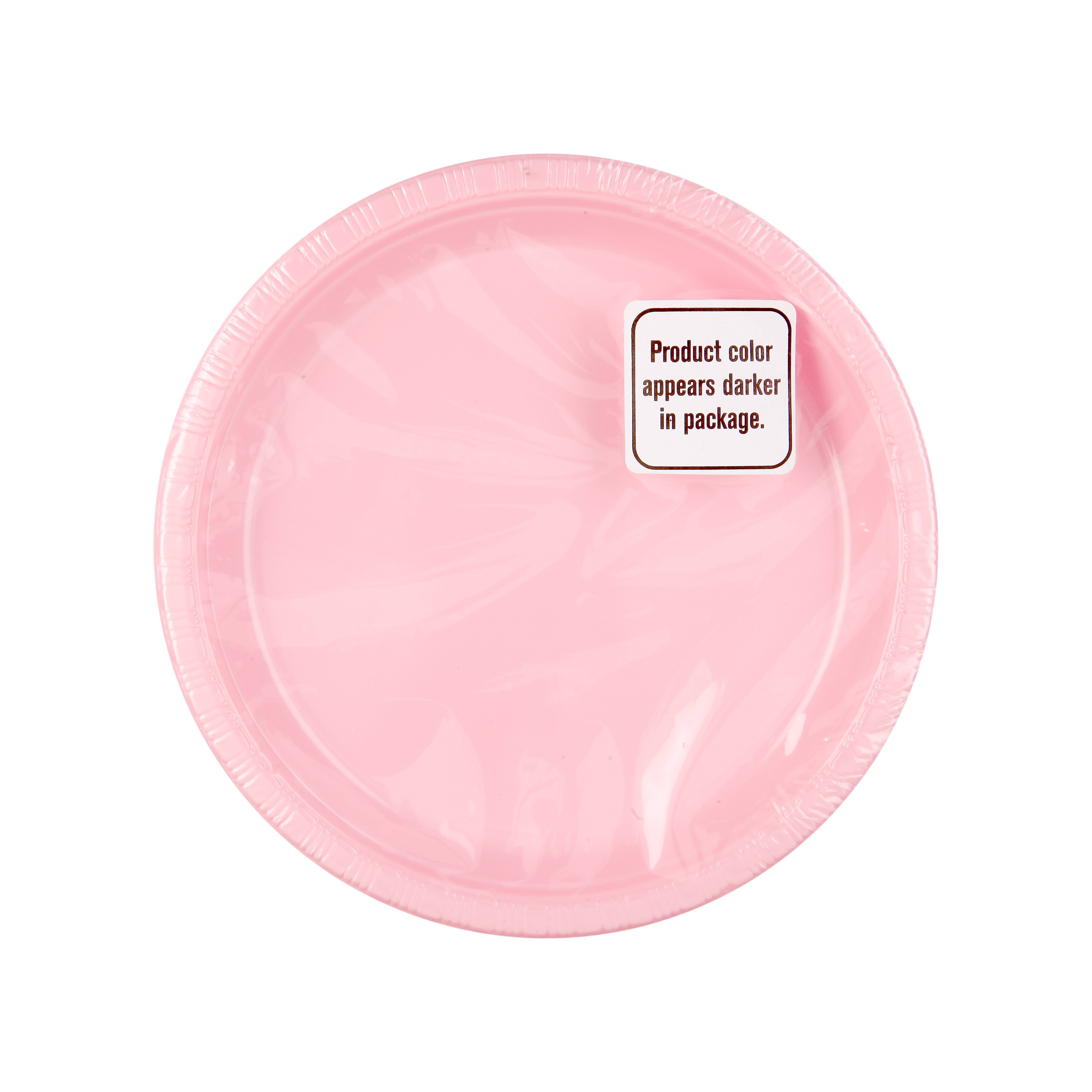 "Creative Converting Classic 7"" Plastic Lunch Plates - Pink, 20 Pack"