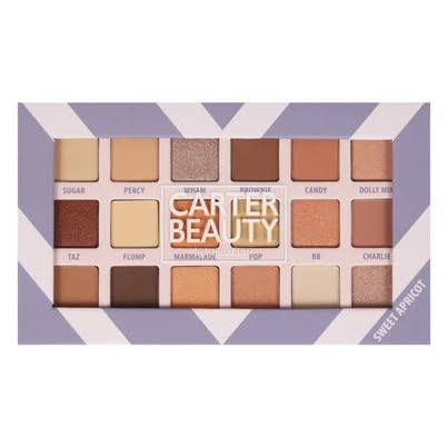 Carter Beauty Sweet Apricot Eyeshadow Palette - 18 Shades