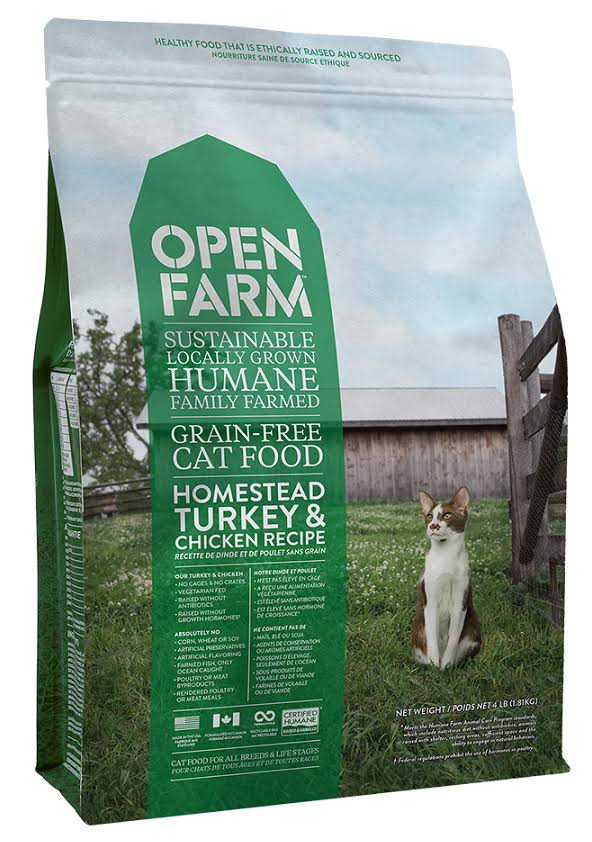 Open Farm | Homestead Turkey & Chicken Grain Free Dry Cat Food