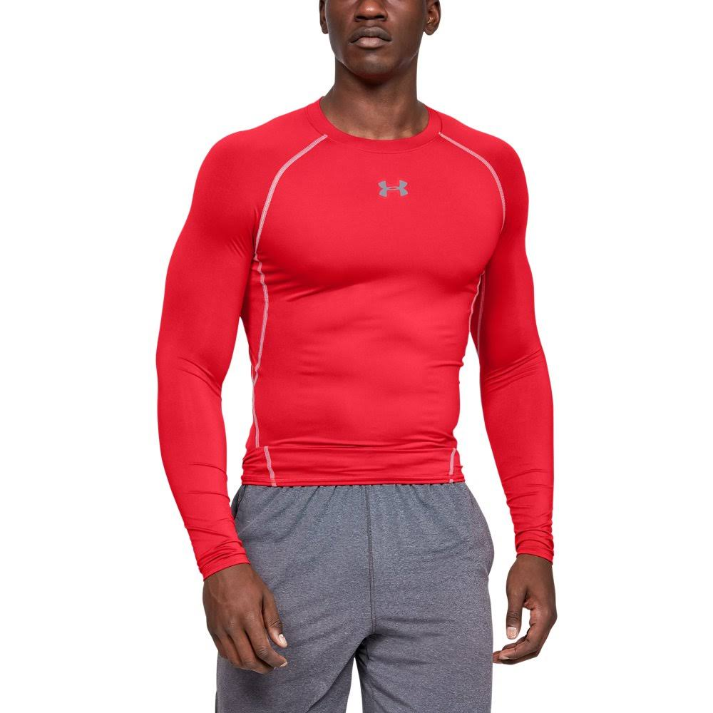 Under Armour Men's Heatgear Armour Long Sleeve Compression Shirt - Red, X-Large
