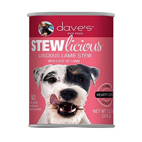 Dave's Pet Food Stewlicious Canned Luscious Lamb Stew Dog Food 13.2 oz