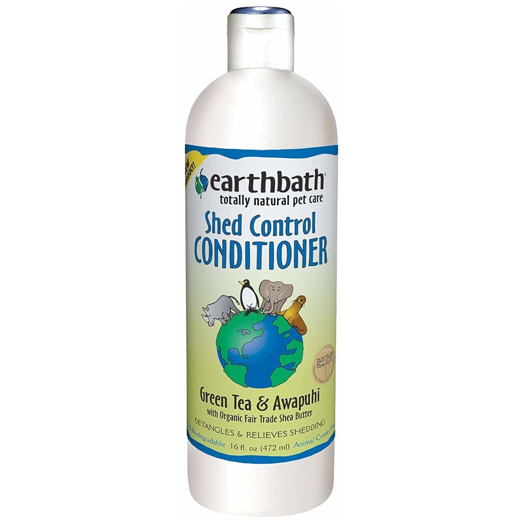 Earthbath Shed Control Conditioner, Green Tea & Awapuhi 16 oz