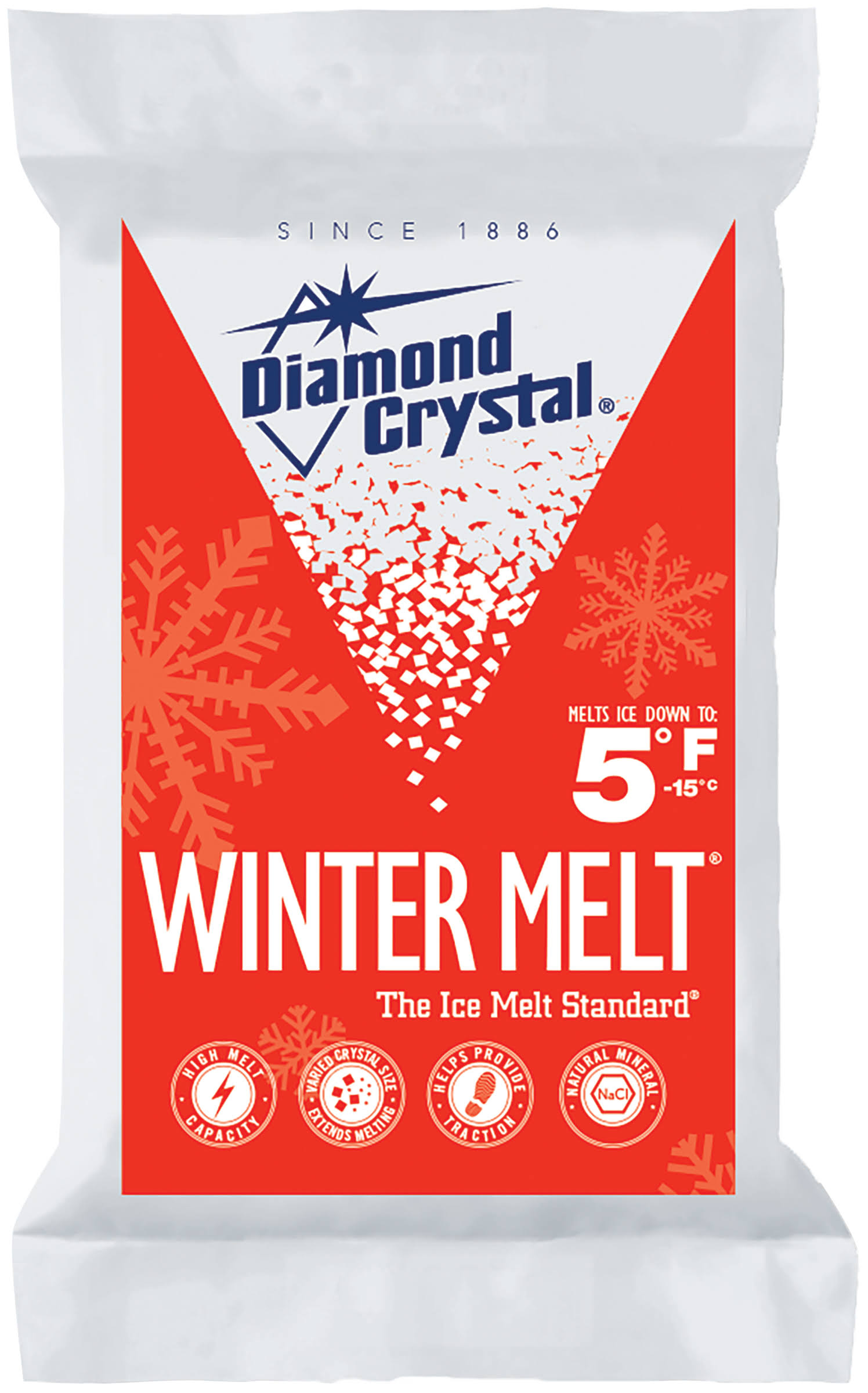 Diamond Crystal Winter Melt Rock Salt - 10 lb bag
