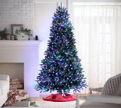 Bethlehem Lights Christmas Trees Qvc by Santa U0027s Best 9 U0027 Starry Light Microlight Christmas Tree W Flip Leds