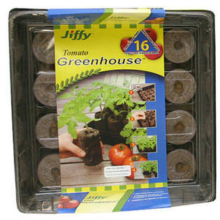 Jiffy Large Greenhouse Plant Seed Starter Kit - 60mm, 16 Pellets