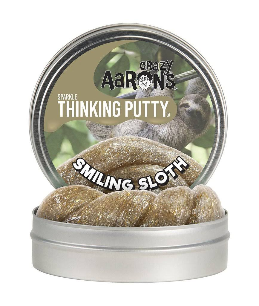 "Crazy Aaron's Sparkle Thinking Putty 4"" Smiling Sloth"