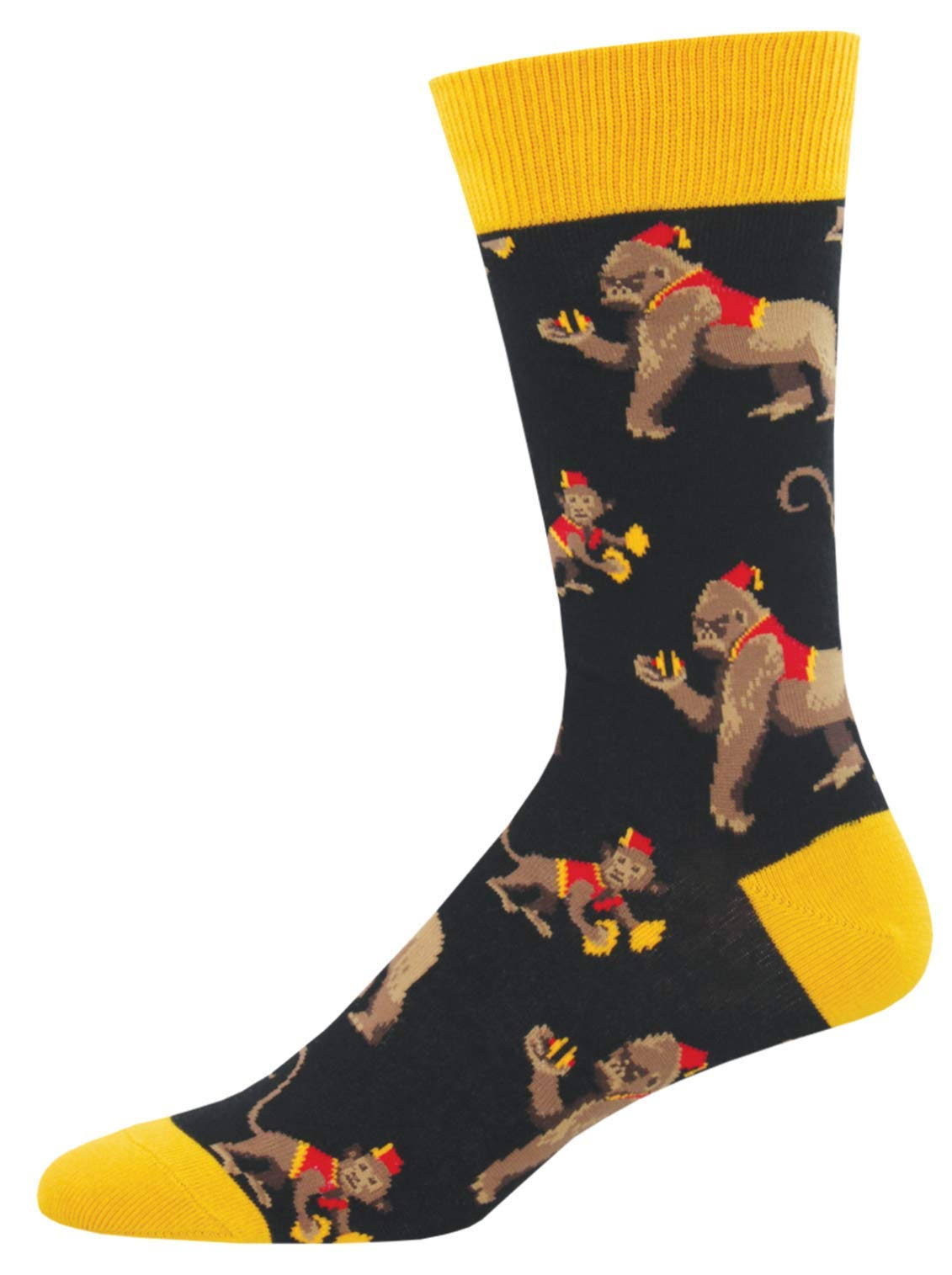 Socksmith Mens Novelty Crew Socks This Band Is Bananas - One Size