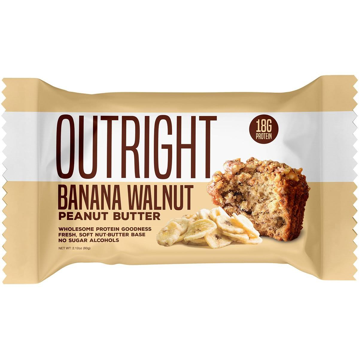 Outright Bar, Banana Walnut, Peanut Butter - 2.12 oz