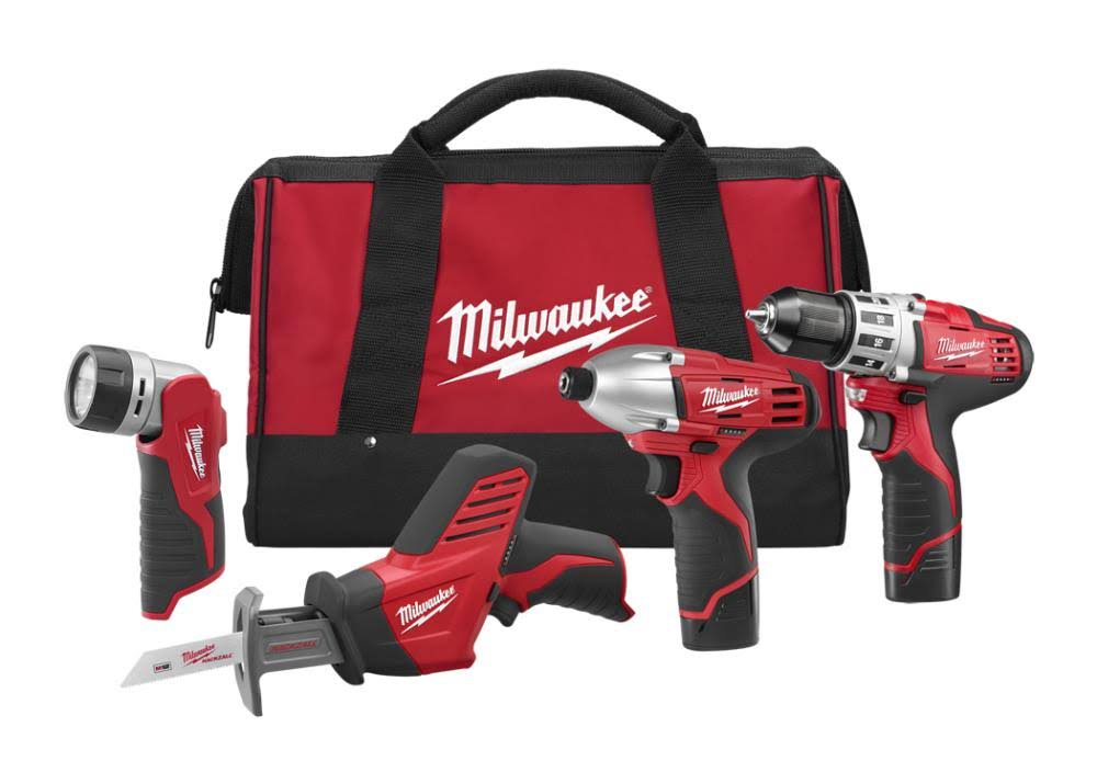 Milwaukee Cordless Lithium Ion Combo Kit - 4pc