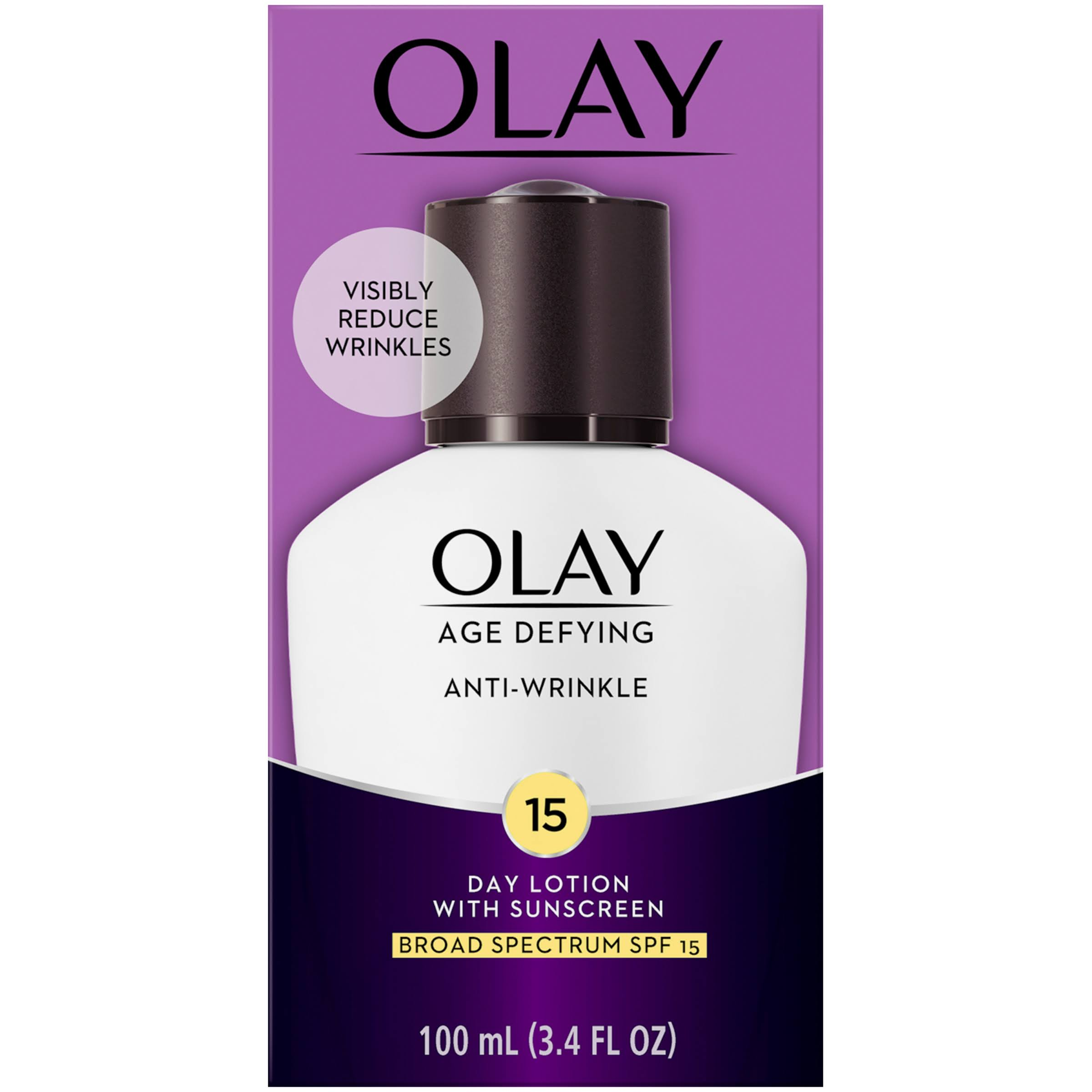 Olay Age Defying Day Lotion with Sunscreen Broad Spectrum - SPF 15, 3.4oz