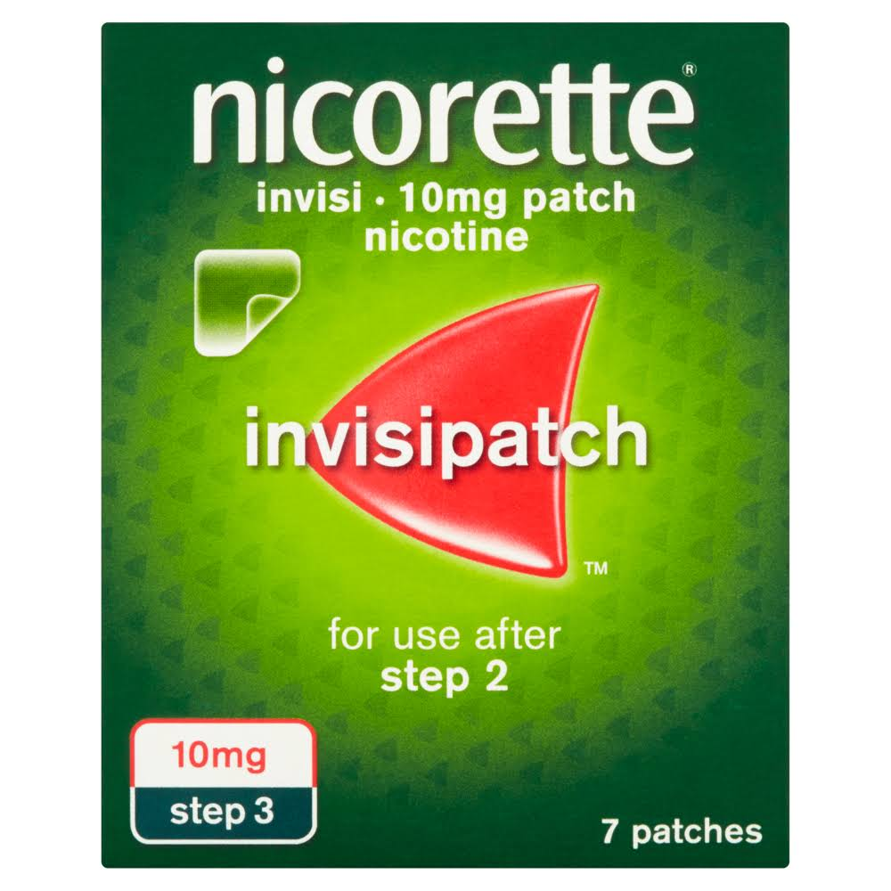 Nicorette Invisi Nicotine Patch - 10mg, 7 Patches