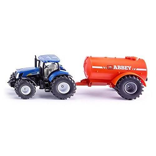 Siku New Holland Tractor & Vacuum Trailer Vehicle Toy