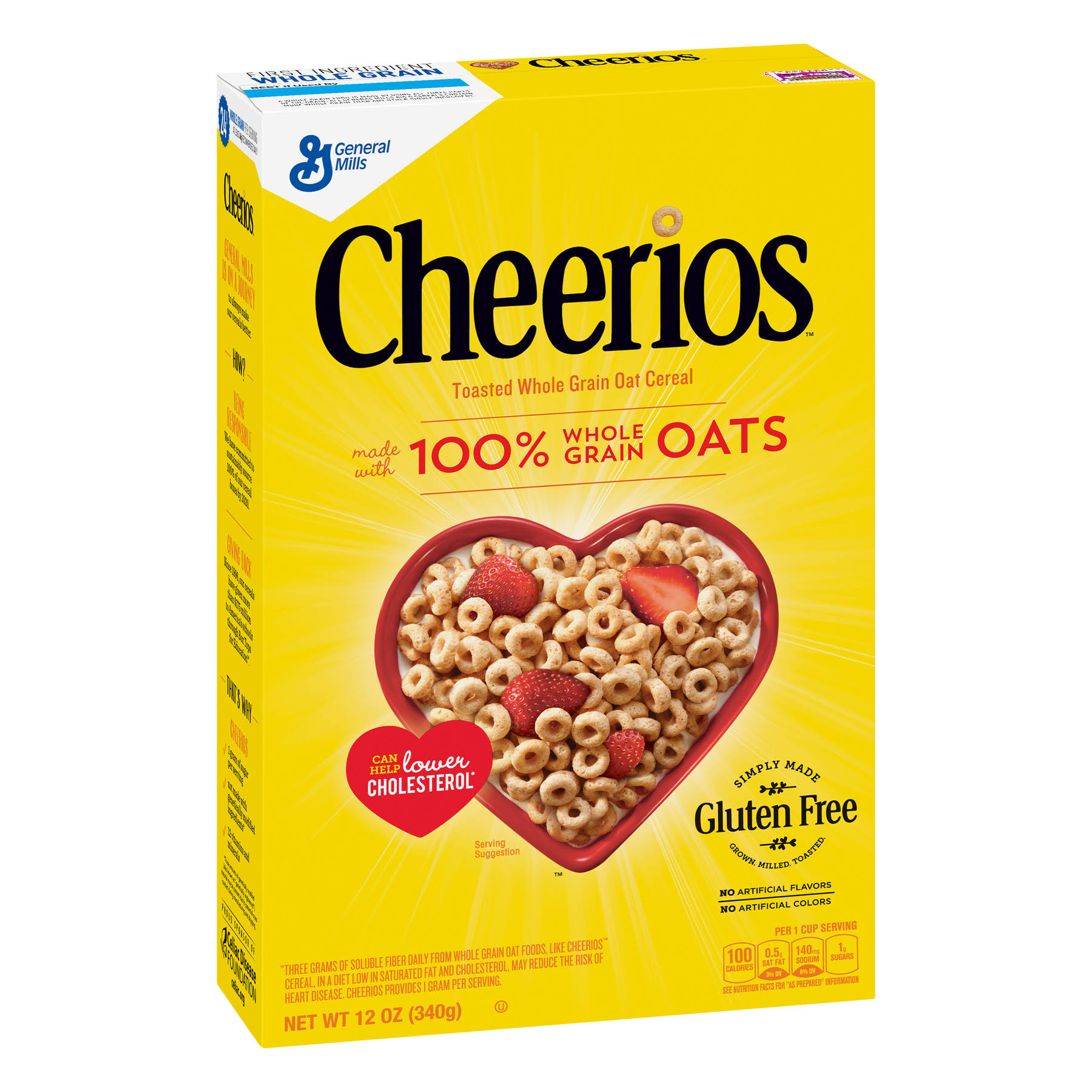 General Mills Cheerios Toasted Whole Grain Oat Cereal - 12oz