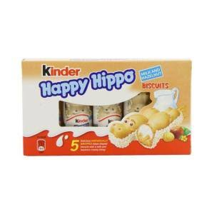 Kinder Happy Hippo Milk Chocolate and Hazelnut Biscuits - 20.7g, 5pk