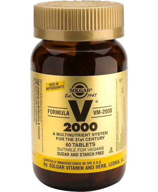Solgar Formula VM-2000 Dietary Supplement - 60 Tablets