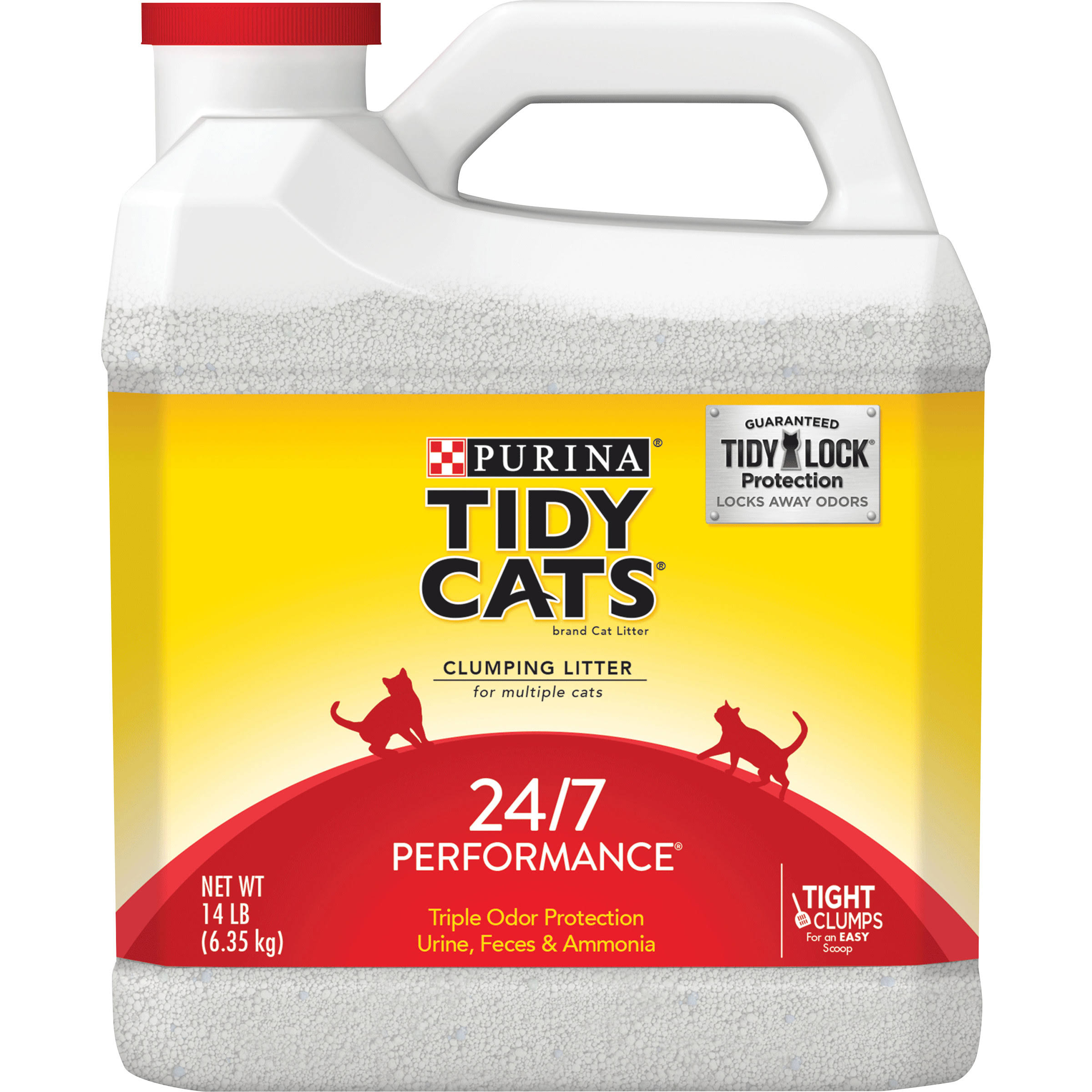 Tidy Cats Purina Clumping Litter 24/7 Performance For Multiple Cats Box - 14lbs