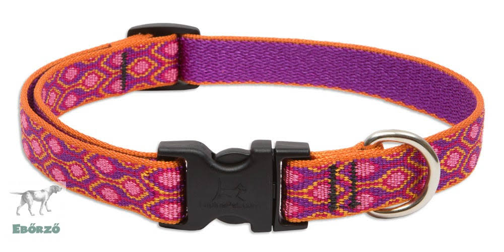 "LupinePet Alpen Glow Adjustable Dog Collar for Medium and Large Dogs - 3/4"" x 13-22"""