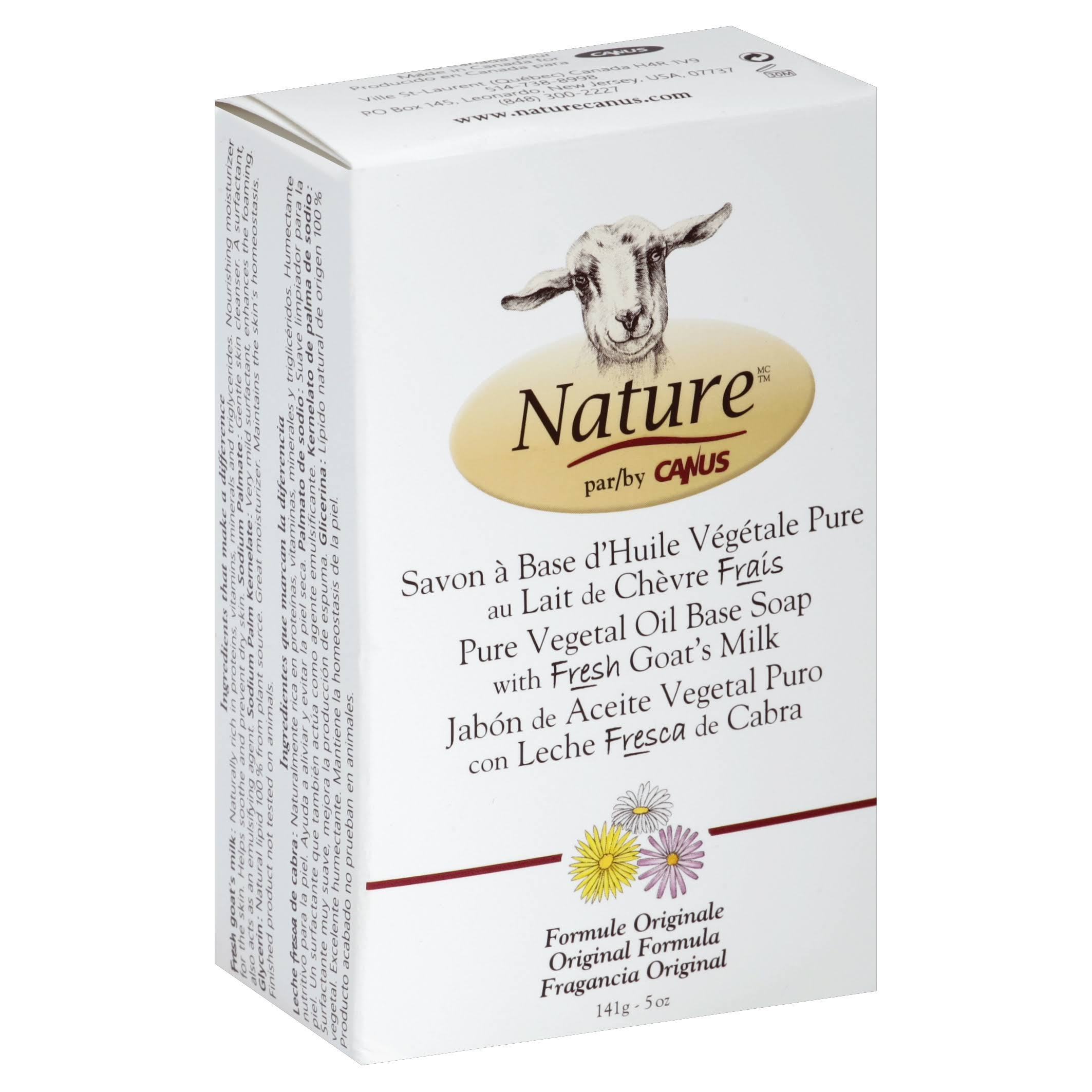 Canus Nature Pure Vegetable Soap - Original Formula, 5oz