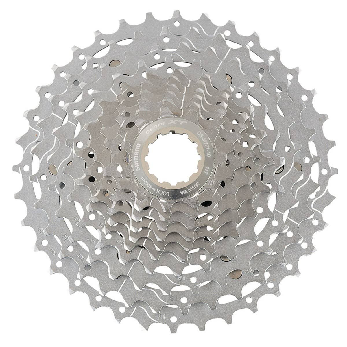 Shimano XT M771 11-36 Bicycle Cassette - 10 Speed, Silver
