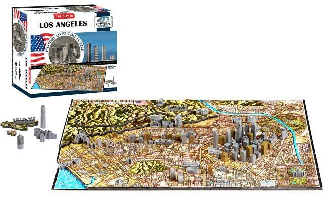 4D Cityscape Time Jigsaw Puzzle - Los Angeles, 1400pcs