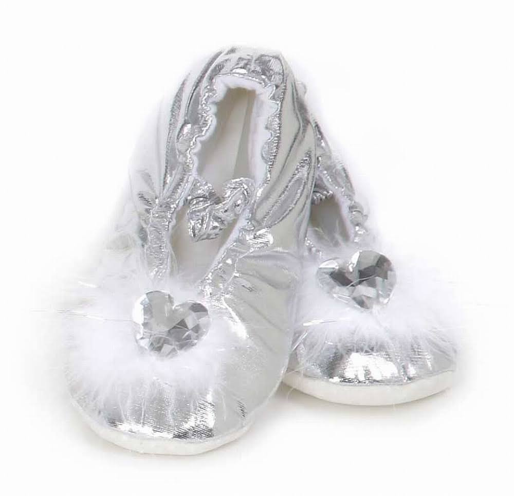 Creative Education's Princess Slippers - Silver, Small