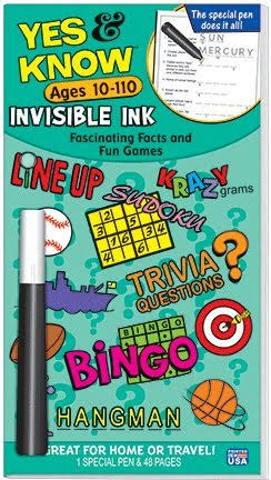 Yes & Know Invisible Ink Books - Ages 10-110