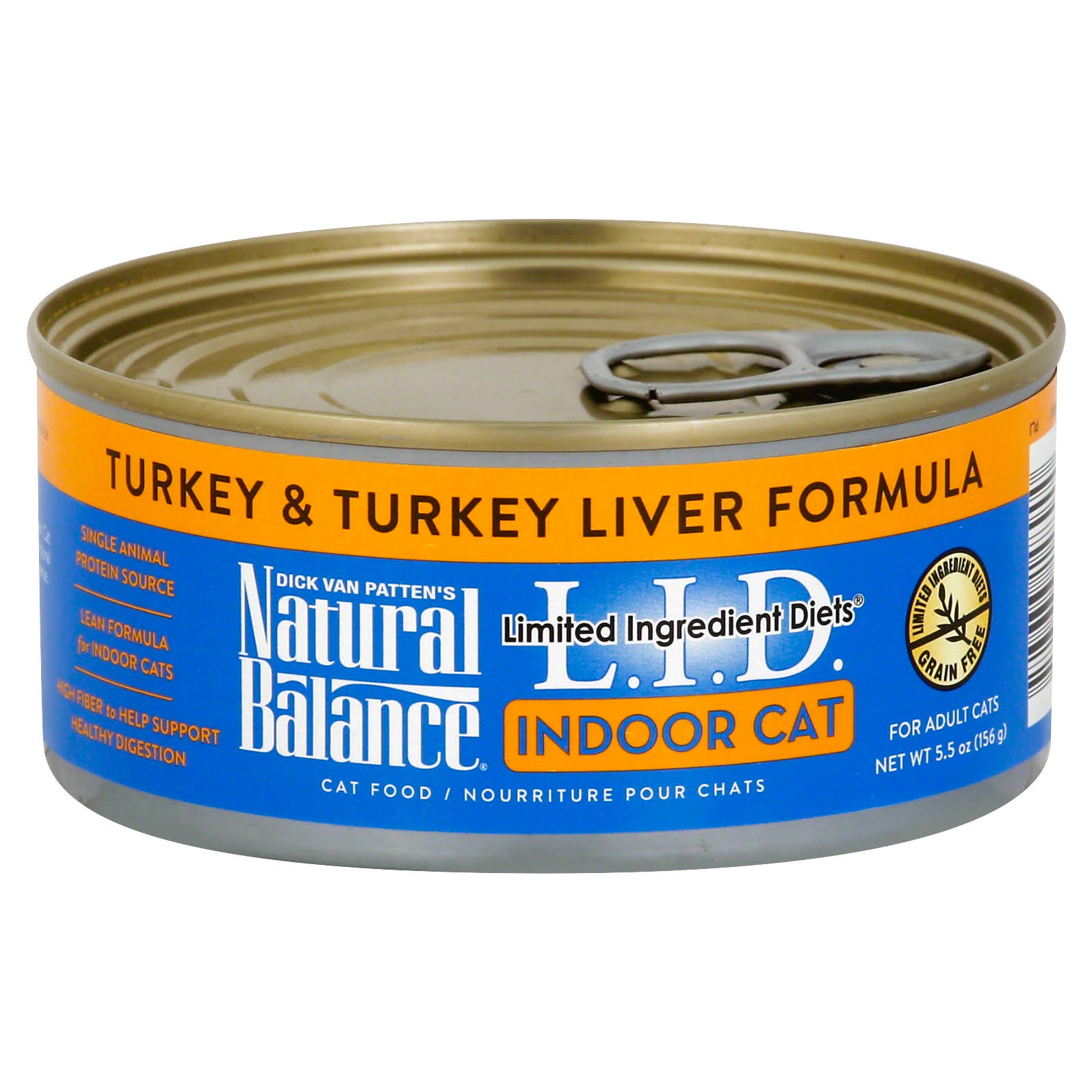 Natural Balance Indoor Cat Food - Turkey & Turkey Liver Formula, 156g