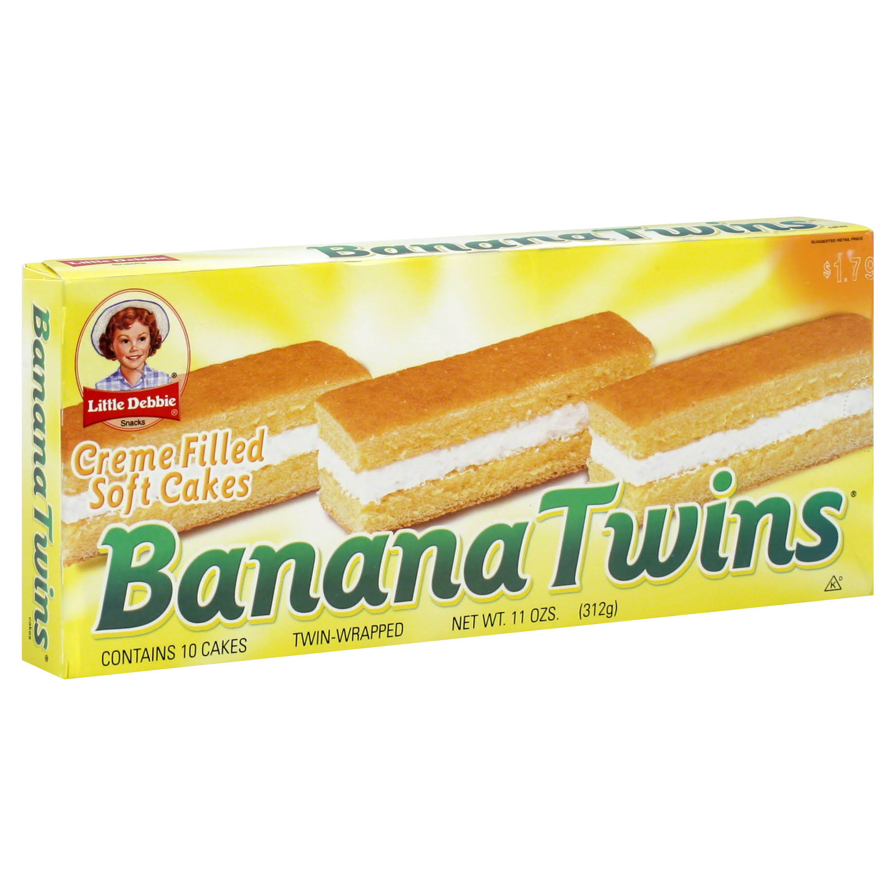 Little Debbie Banana Twins Cakes - 10ct, 11oz