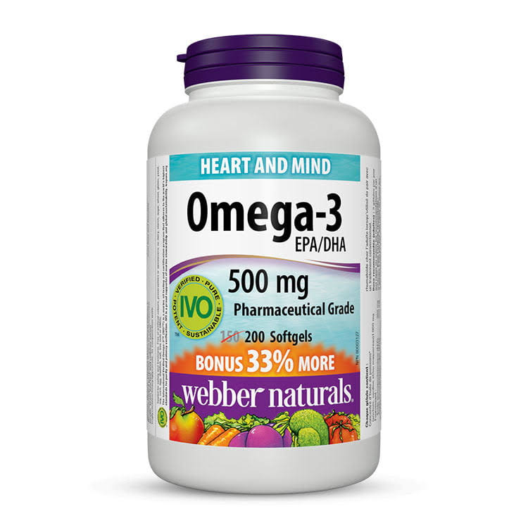 Webber Naturals Omega 3 Softgels - 500mg, 200ct