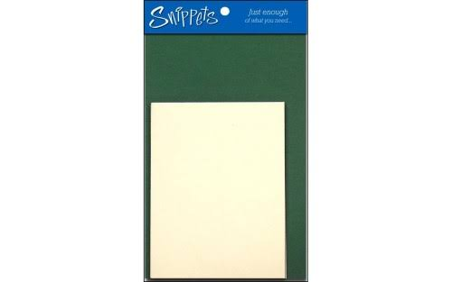 Paper Accents Snippets Card & Env 4.25x5.5 3PC DarkGreen/Cream