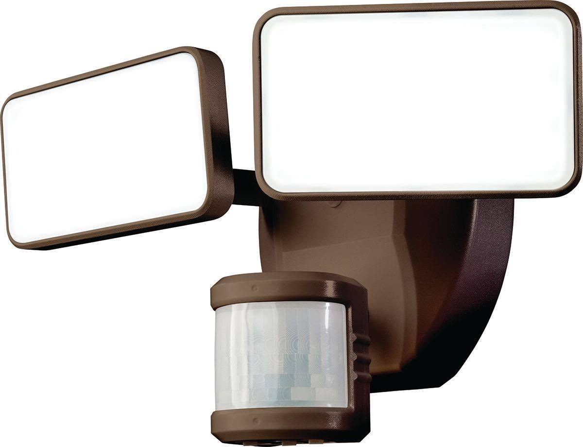 Heath Zenith Motion Sensor Led Lights - Bronze, Plastic