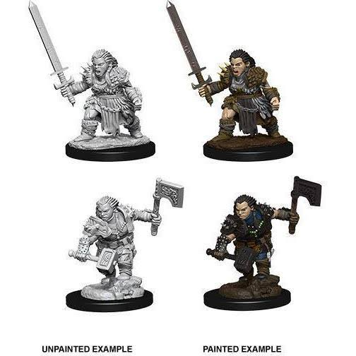 Pathfinder Deep Cuts Unpainted Miniatures - Female Dwarf Barbarian
