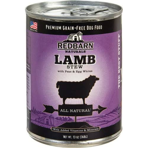 Redbarn Grain Free Dog Food - Lamb Stew With Peas & Egg Whites, 13oz