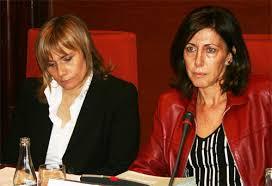 Junt a Mònica Terribas (directora de TV3), Rosa Cullell, quan era directora general de la Corporació Catalana de Mitjans Audiovisuals (CCMA)