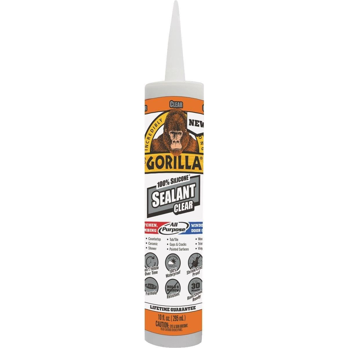 Gorilla Clear 100 Silicone Sealant - 10oz