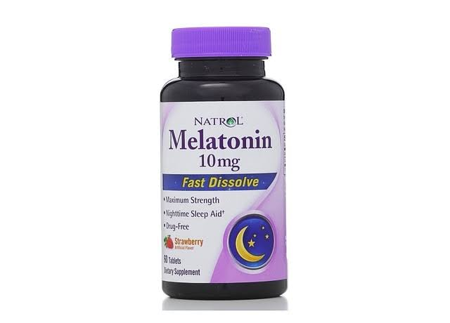 Natrol Melatonin Fast Dissolve Tablets - Citrus Punch, 10mg, 60 Tablets
