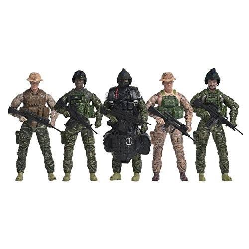 Elite Force Navy Seals Toy Action Figures 5-Pack, Blue