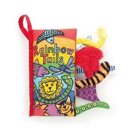 JELLYCAT-RAINBOW Tails Book