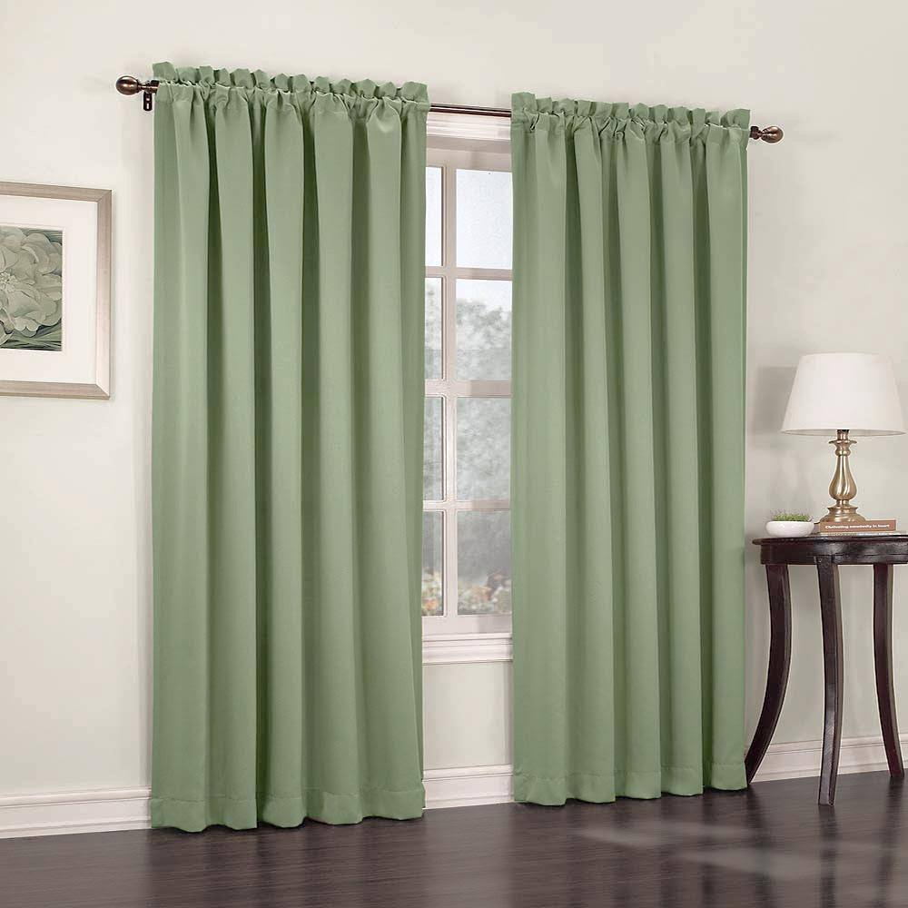 Lichtenberg Madison Room Darkening Rod Pocket Curtain Panel Sage