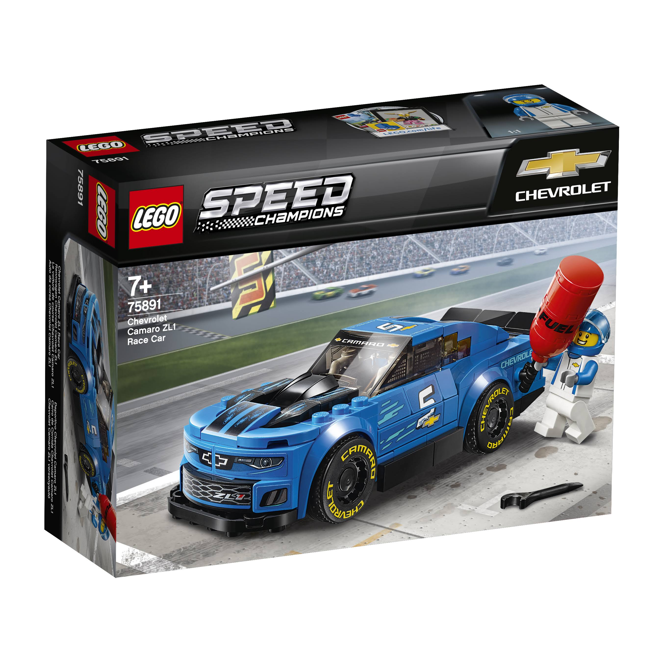 Lego Speed Champions Chevrolet Camaro ZL1 Race Car Building Toy