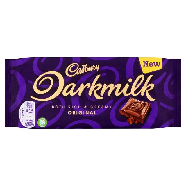 Cadbury Dark Milk Chocolate Bar - 85g