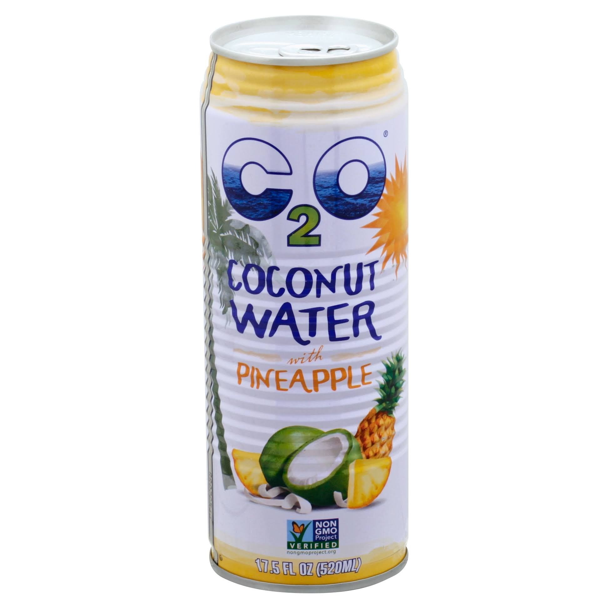 C2O Coconut Water, with Pineapple - 17.5 fl oz