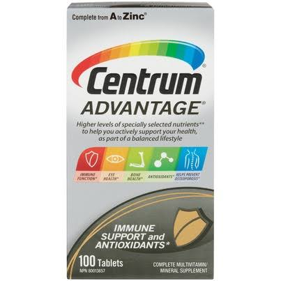Centrum Advantage Multivitamins Dietary Supplement - 100ct